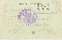 GUERRE 14-18 CENTRE SPÉCIAL DE RÉFORMES D'ANGERS HOPITAL COMPLEMENTAIRE N° 40 - TàD ANGERS MAINE-ET-LOIRE 2-11-18 - Guerra De 1914-18
