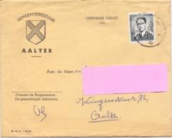 Omslag Enveloppe - Gemeente Aalter - Stempel Cachet 1965 - Stamped Stationery