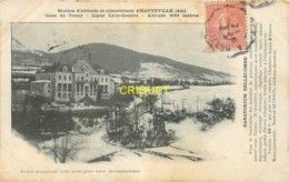 01 Hauteville, Gare De Tenay, Le Sanatorium Bellecombe, Affranchie 1905, Visuel Peu Courant - Hauteville-Lompnes