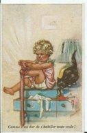CARTE FANTAISIE - Illustration Germaine BOURET - éditions Superlux Paris N° 8 - Bouret, Germaine