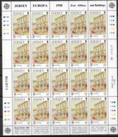 1990 Jersey   Mi.  508-511 **MNH Europa  Postalische Einrichtungen - Europa-CEPT