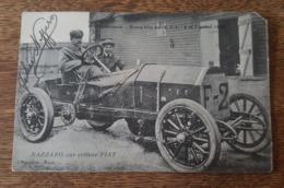 Grand Prix De L'ACF - 6 Et 7 Juillet 1908 - Nazzaro Sur Voiture Fiat - Petit Manque Coin Haut Droit - Grand Prix / F1