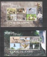 VV552 ! LAST ONE IN STOCK ! 2018 EXCLUSIVE COOK ISLANDS FAUNA BIRDS OF PREY EAGLES OWLS ! 22 EURO NOMINAL 2SH MNH - Adler & Greifvögel