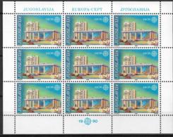 1990 Jugoslawien  Mi.  2414-5 **MNH Europa  Postalische Einrichtungen - 1990