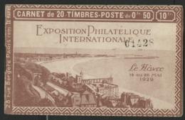 CARNET 257 - C12, LE HAVRE Exposition Philatélique De 1929. Neuf Avec Adhérences (voir Photos). - Definitives