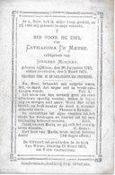 De Meyst Catharina (wieze 1793 -1875) - Religión & Esoterismo