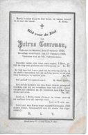 Cooreman Petrus (wieze 1780 -1869) - Religion &  Esoterik