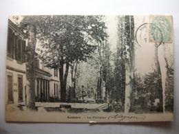 Carte Postale Andabre (12) La Fontaine - Gissac (Petit Format Noir Et Blanc Oblitérée 1906 Timbre 5 Centimes ) - Autres Communes