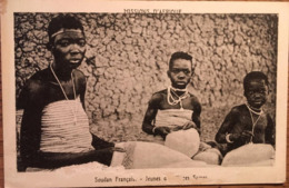 Cpa, SOUDAN Français (MALI) Jeunes Dentellieres Samos, Missions D'Afrique - Mali