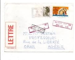TRISTE EXEMPLE DE PLI INADMIS PAR L'ALGERIE SUITE A L'AFFRANCHISSEMENT DE FRANCE AVEC LE TIMBRE HOMMAGE AUX HARKIS 1990 - Cachets Manuels
