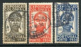 "Portugal / 1934 / Mi. 578-580 ""Kolonialausstellung"" O (0313) - 1910-... Republik"