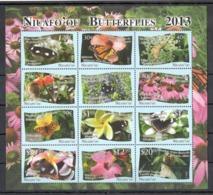N639 2013 NIUAFO'OU BUTTERFLIES FLORA FLOWERS !!! MICHEL 55 EURO !!! 1SH MNH - Mariposas