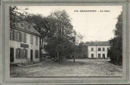 CPA - BEAUCOURT (90) - Aspect Du Café De La Gare Et De La Gare Au Début Du Siècle - Beaucourt