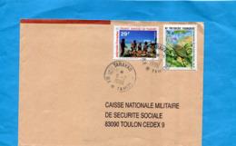 MARCOPHILIE-Lettre-Polynésie >Françe-cad TARAVAO-1996-stamps N°442animation+470 Ooiseau - Lettres & Documents
