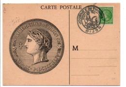 OBLITERATION JOURNEE DU TIMBRE 1945 DIJON - Poststempel (Briefe)