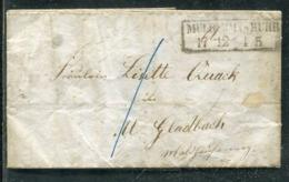 Preussen / 1860 / Brief R2 MUELLHEIM A.D. RUHR (0326) - Deutschland