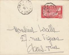 LETTRE TOGO. 27 4 35. AMBULANT LOME A ATAKPAME. N° 145 SEUL POUR PARIS - Togo (1914-1960)
