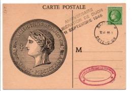 GRIFFE LIBERATION DE DIJON 11/9/1945 - Cachets Manuels