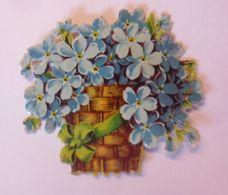 Oblaten, Blumen, Vergissmeinnicht,  1900,  5 Cm X 5,5 Cm  ♥  (6014) - Oblaten, Glanzbilder