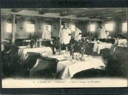 """CPA - A Bord Du """"TIMGAD"""" - Salle à Manger Des Premières, Animé - Paquebote"""