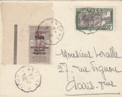 LETTRE TOGO. 26 4 35. AMBULANT LOME A ANECHO. N° 90 ET 144 POUR PARIS - Togo (1914-1960)
