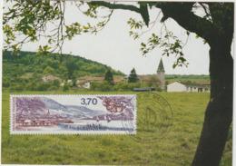 Carte-Maximum FRANCE N°Yvert 2466 (Côtes De Meuse) Obl Sp Ill 1er Jour (Ed Combier 48.02) - 1980-89