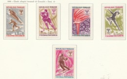 PIA  - FRANCIA  - 1968  : Giochi Olimpici Invernali Di Grenoble -  (Yv  1543-47) - Inverno1968: Grenoble