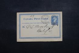 CANADA - Entier Postal De Halifax En 1882, Voir Cachet étoile Au Verso - L 43998 - 1860-1899 Regering Van Victoria