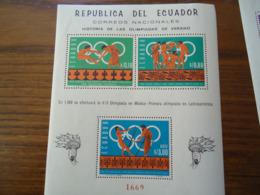ECUADOR MINT SHEET OLYMPIC GAMES 1968 - Equateur