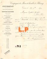 40-0146    1894 COMPAGNIE DES MINES DE HOUILLE DE BLANZY JULES CHAGOT A TOURS - M. TOUTAIN GAILLARD A SELLES SUR CHER - Frankrijk