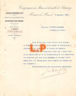 40-0157    1894 COMPAGNIE DES MINES DE HOUILLE DE BLANZY JULES CHAGOT A TOURS - M. TOUTAIN GAILLARD A SELLES SUR CHER - Frankrijk