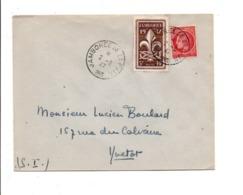 OBLITERATION JAMBOREE DE LA PAIX 1947 - Marcophilie (Lettres)