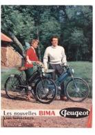 PEUGEOT Vélomoteur Moto Cycles BIMA BEAULIEU VALENTIGNEY 25 Doubs Publicité 4 Pages - Publicités