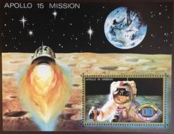 Umm Al Qiwain 1972 Apollo 15 Space Minisheet MNH - Umm Al-Qaiwain