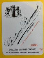 11910 - Château Pernaud 1980 Sauternes - Bordeaux