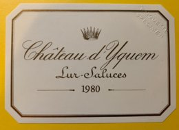 11911 - Château D'Yquem 1980 Spécimen - Bordeaux