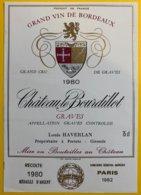 11912 - Château Bourdillot 1980 Graves - Bordeaux