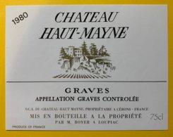 11913 - Château Haut-Mayne 1980 Graves - Bordeaux