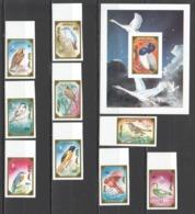 CC894 !!! IMPERFORATE 1990 MONGOLIA FAUNA BIRDS STAMP WORLD LONDON 1SET+1BL MNH - Oiseaux