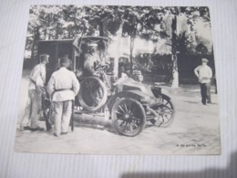 Fiche Photo - Document - Dossier 185 Guerre 14/18 - No 4. Arrêt D'un Taxi,la Garde Veille... (mobilisation). - 1914-18