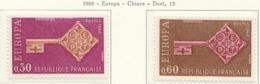 PIA - FRANCIA - 1968 : Europa  - (Yv 1556-57) - Europa-CEPT