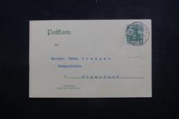 ALLEMAGNE - Carte Commerciale De Dresden Pour Olbersdorf En 1909 - L 44008 - Deutschland