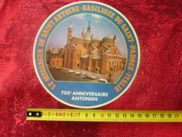1950-LE MESSAGER DE SAINT-ANTOINE-BASILIQUE DU SAINT-PADOUE-ITALIE-ITALIA 70é ANNIVERSAIRE ANTONIEN GOMME COLLANTE VERSO - Religión & Esoterismo