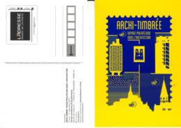 PAP CP EXPO ARCHI-TIMBREE CITE ARCHITECTURE 2015 - Entiers Postaux
