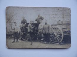 Carte Photo MILITAIRE GUERRE 1914 1918 La ROULANTE CUISINE Infanterie Soldat Armée - War 1914-18