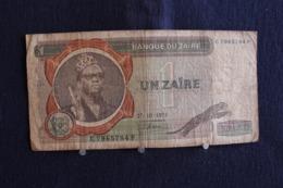 62 / Zaïre - Banque Du Zaïre, 1 -  Un Zaïre  ( 27 - 10 - 1975 ) /  N° C 7965784 P - Zaïre