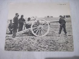 Fiche Photo - Document - Dossier 185 Guerre 14/18 - No 11. Le CANON De 75 - 1914-18