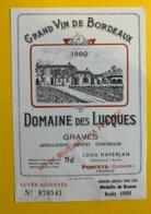 11914 - Domaine Des Lucques 1980 Graves - Bordeaux