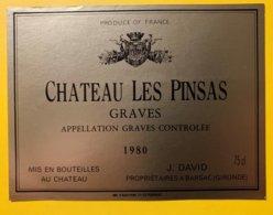 11915 - Château Les Pinsas 1980 Graves - Bordeaux