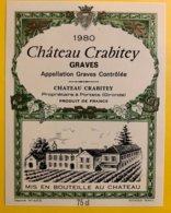 11917 - Château Crabitey  1980 Graves - Bordeaux